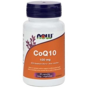 CoQ10 100 mg with Hawthorn Veg Capsules by Now Foods