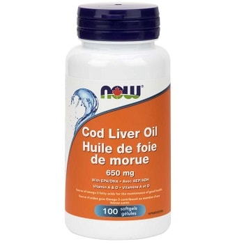 Cod Liver Oil Softgels by Now Foods