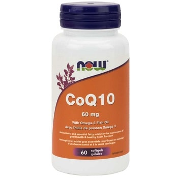 CoQ10 60 mg with Lecithin and Fish Oil Softgels by Now Foods