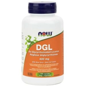 DGL with Aloe Vera Veg Capsules by Now Foods