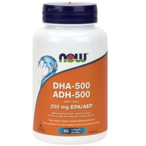 DHA-500 1,000 mg Softgels by Now Foods