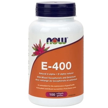 E-400 Mixed Tocopherols with Selenium Softgels by Now Foods
