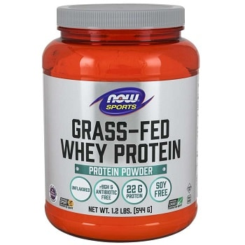 Grass-Fed Whey Protein Concentrate, Natural Unflavoured by Now Foods