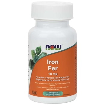 Iron Bisglycinate 18 mg Veg Capsules by Now Foods