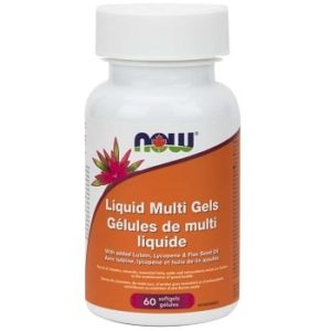 Liquid Multi Gels with Flax Oil Softgels by Now Foods
