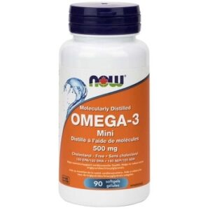 Omega-3 Mini 500 mg Softgels by Now Foods