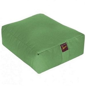 Pure Cotton Filled Cushion for Yoga Green