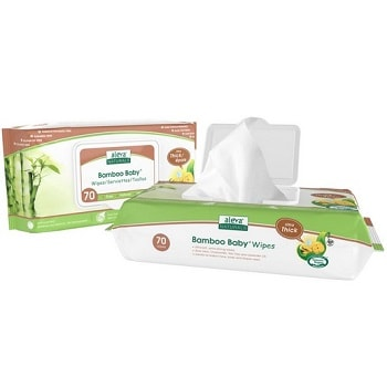 Bamboo Baby Ultra Thick Wipes by Aleva Naturals