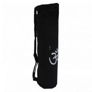 Cotton Canvas Yoga Mat Bag With OM Embroidery-Zippered
