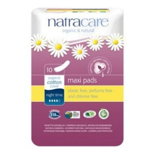 Night Time Natural Maxi Pads Natracare